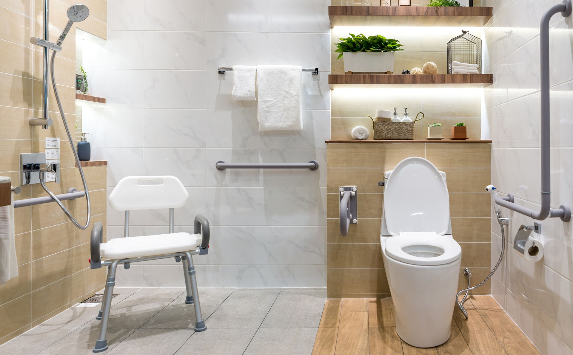 image of a barrier free bathroom