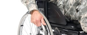image of veteran in wheel chair