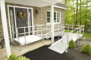image of a ramp leading up to a home
